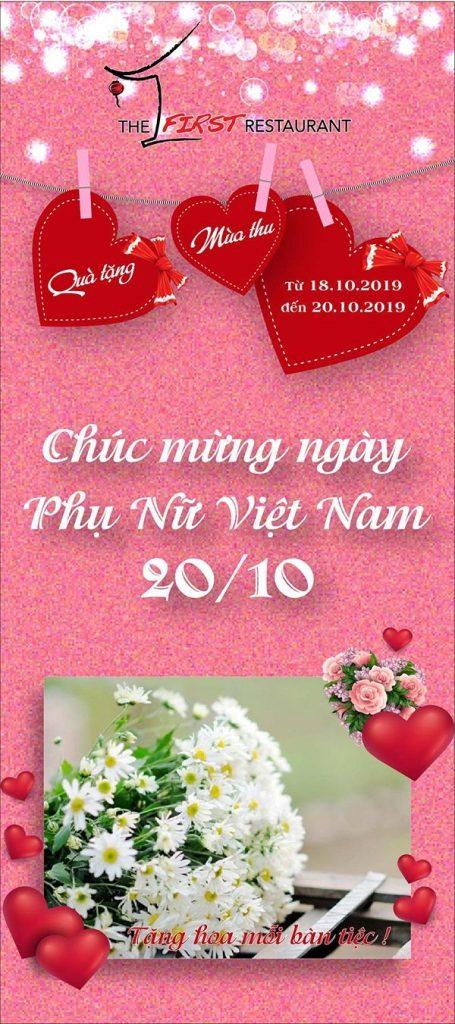 chao mung 20 thang 10, qua tang 20 thang 10, nha hang De Nhat