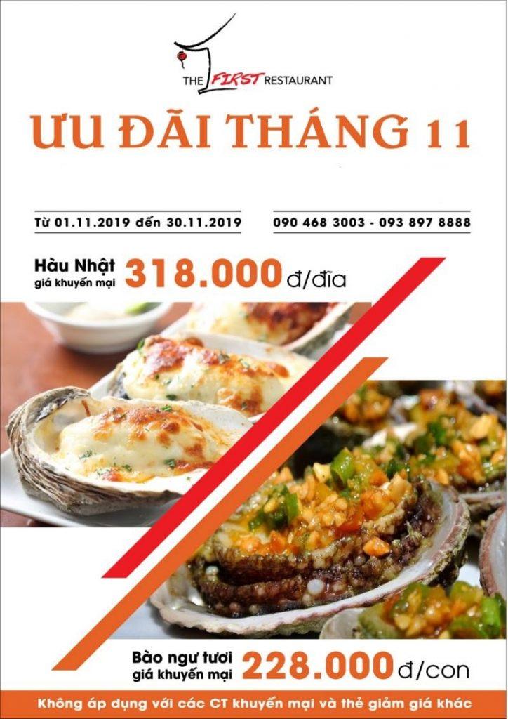 Hình ảnh chương trình ưu đãi của nhà hàng Đệ Nhất
